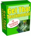 Get That Testimonial Personal Use Software