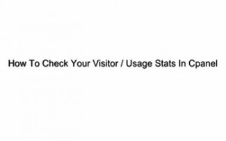 How To Check Your Usage Stats In CPanel Plr Video