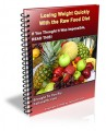 Losing Weight Quickly With The Raw Food Diet MRR Ebook