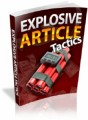 Explosive Article Tactics Plr Ebook