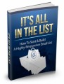 Its All In The List Mrr Ebook