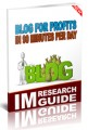 Blog For Profits In 90 Minutes Per Day Personal Use Ebook