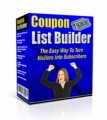Coupon List Builder MRR Software