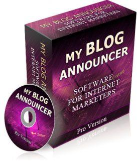 My Blog Announcer PLR Software