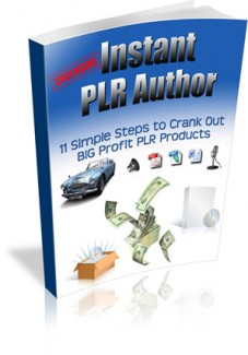 Instant PLR Author Plr Ebook