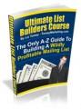 Ultimate List Builders Course Mrr Ebook