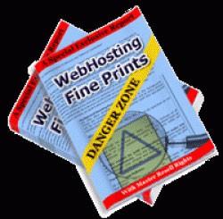 Web Hosting Fine Prints Danger Zone MRR Ebook