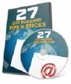 27 List Building Tips N Tricks Plr Video