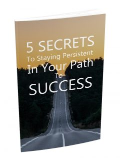 5 Secrets To Staying Persistent MRR Ebook With Audio
