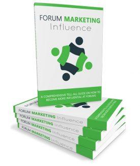 Forum Marketing Influence MRR Ebook
