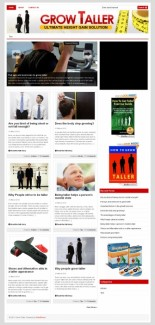 Grow Taller Plr Niche Blog PLR Template