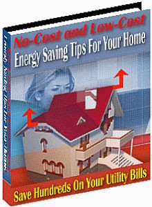 No-Cost  Low-Cost Energy Saving Tips For Your Home Resale Rights Ebook