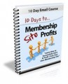 10 Days To Membership Profits PLR Autoresponder Messages