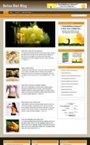 Detox Diet Blog Personal Use Template