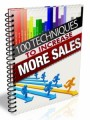 100 Techniques To Increase Sales Give Away Rights Ebook