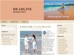 Enjoying The Ocean Wordpress Theme Plr Template