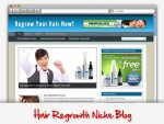 Hair Regrowth Niche Blog Personal Use Template