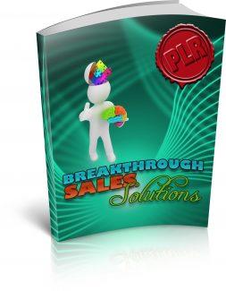 Breakthrough Sales Solutions PLR  Ebook With Audio