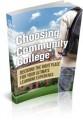 Choosing Community College MRR Ebook