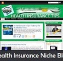 Health Insurance Niche Blog Personal Use Template