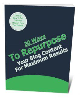 20 Ways To Repurpose Your Blog Post Content PLR Ebook