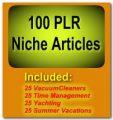 100 Plr Niche Articles PLR Article