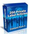 200 Plr Articles: Content Pack 2 PLR Article