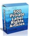 500 Plr Articles PLR Article