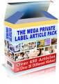 The Mega Private Label Article Pack PLR Article