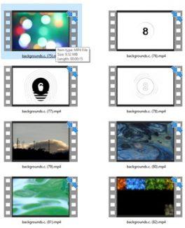 Backgrounds Stock Videos Five – V2 MRR Video