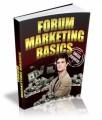 Forum Marketing Basics Ecourse PLR Autoresponder Messages