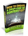 How To Create A Crap Load Of Content Fast PLR Ebook ...