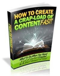 How To Create A Crap Load Of Content Fast PLR Ebook With Audio