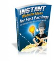Instant Website Ideas For Fast Earnings Resale Rights Ebook