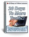 20 Days To More Traffic Course PLR Autoresponder Messages