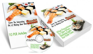 Making Your Own Sushi MRR Ebook With Audio