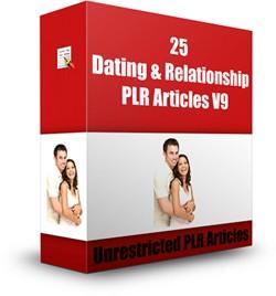 25 Dating  Relationship Plr Articles V9 PLR Article