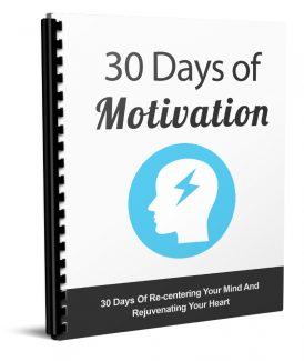 30 Days Of Motivation MRR Ebook