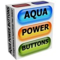 Aqua Power Buttons Plr Graphic