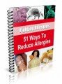 51 Ways To Reduce Allergies Resale Rights Ebook