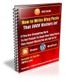 How To Write Blog Posts That Suck Visitors In MRR Ebook