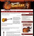 Acoustic Guitar Niche Site Personal Use Template With Video