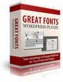 Great Fonts Plugin For Wordpress Personal Use Software
