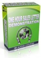 One Hour Sales Letter Demonstration PLR Video