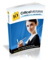 10 Critical Mistakes To Avoid At The Job Interview Mrr Ebook