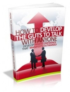 How To Develop The Guts To Talk With Anyone Mrr Ebook
