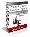 Managing Your Business Domain PLR Autoresponder Messages