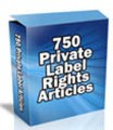 750 Private Label Articles PLR Article