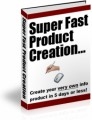 Super Fast Product Creation Plr Ebook