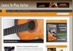 Learn Guitar Niche Blog Personal Use Template With Video